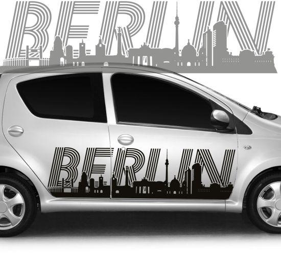 Autoaufkleber Autotattoo Skyline Stadt Berlin II