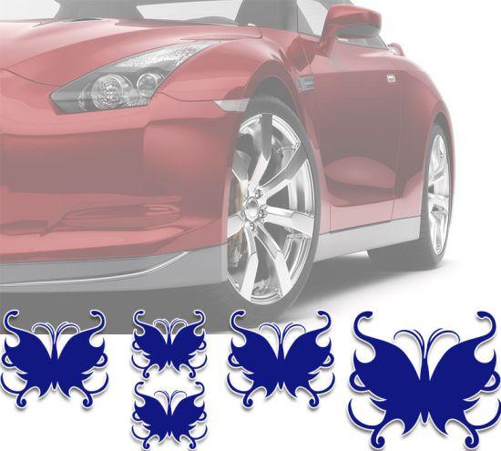Autoaufkleber Autotattoo 5 Stück Schmetterlinge Butterfly Anna