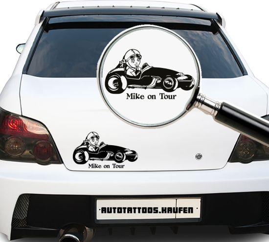 Autotattoo Baby on Wunschname on Tour Rennfahrer Bobby Car