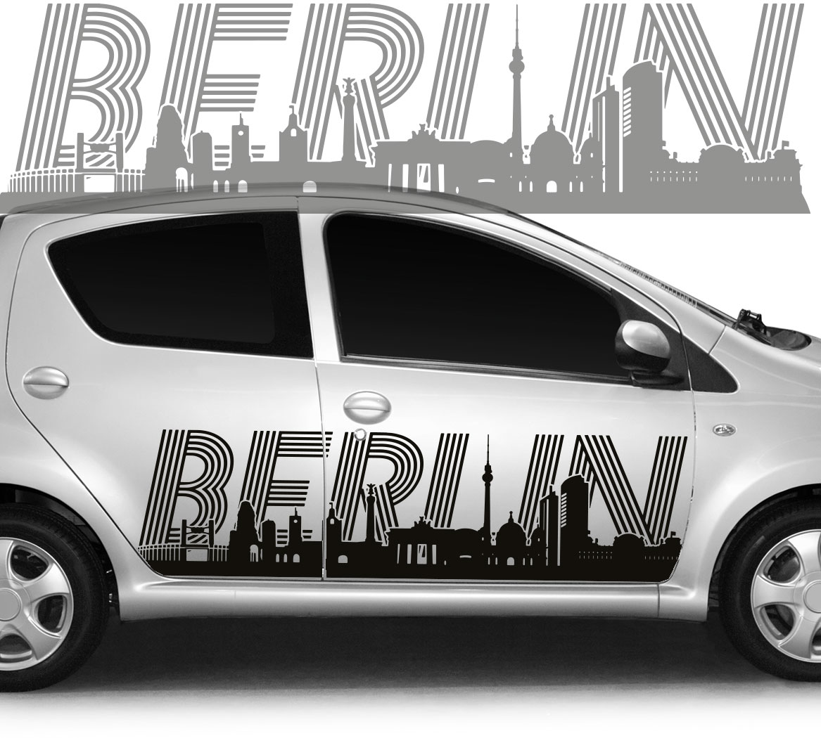 autoaufkleber autotattoo skyline stadt berlin ii. Black Bedroom Furniture Sets. Home Design Ideas